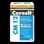 Клей плиточный Ceresit CM 12 для крупной плитки 25кг